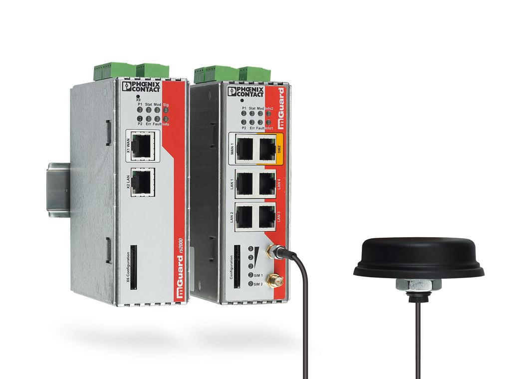 Безопасные маршрутизаторы линейки продуктов MGuard обеспечивают безопасную передачу данных заказчика.